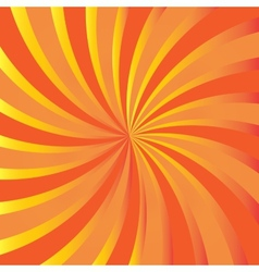 Orange rays Abstract autumn background vector image vector image