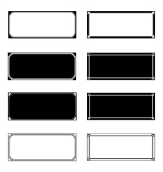 Rectangle Frames vector image vector image
