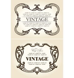vector vintage beige abstract frames ornament vector image vector image