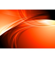 Abstract wavy design vector image vector image