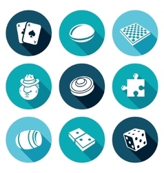 Board games Icons Set vector image