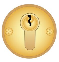 Gold keyhole vector