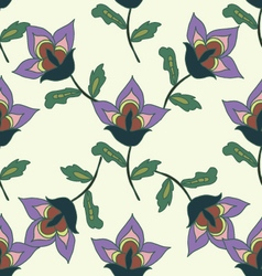 Hand drawn bright summer floral seamless pattern vector