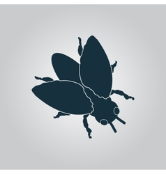 Stencil black flies icon sign and button vector image vector image
