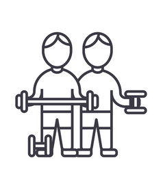 bodybuildersfintess gymstrong practiceweights vector image vector image