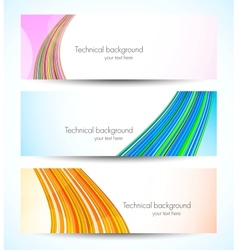 Set of tech banners vector image vector image