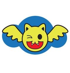 Smile bat vector