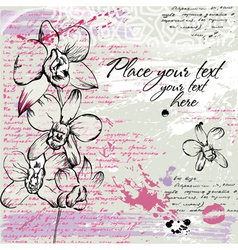 textured background with orchid vector image vector image