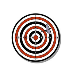 with target and darts vector image
