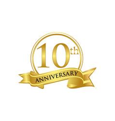 10th anniversary celebration logo vector