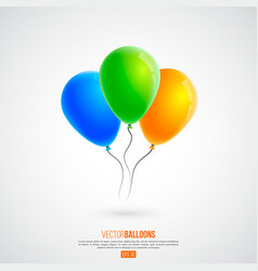 3d realistic colourful birthday or party balloons vector