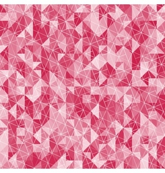 Abstract crystal red triangle background vector image