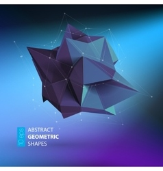 Abstract triangles space low poly vector