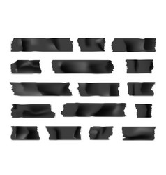 adhesive tape set sticky paper strip isolated on vector image