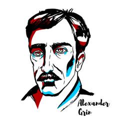 Alexander grin portrait vector