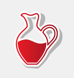 amphora sign new year reddish icon with vector image