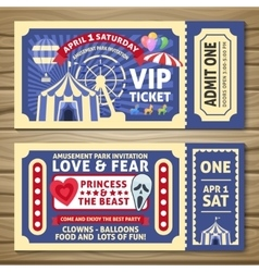 Amusement Park Tickets vector image
