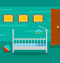baby room interior background flat style vector image
