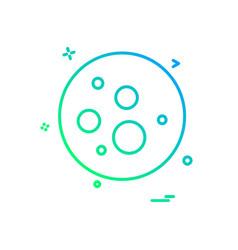bacteria icon design vector image