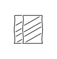 Bags cement concept icon in outline vector