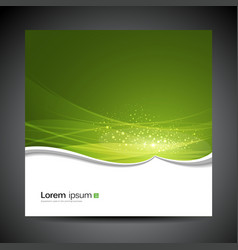 Banners modern wave green background vector