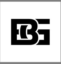 bg initial letter logo design template vector image