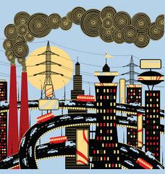big industrial city vector image