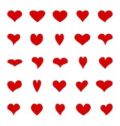 Big set of diffrent hearts vector image