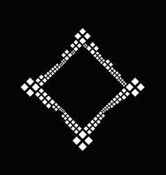 Black and white modern geometrical square frame vector