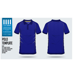 blue polo t shirt sport template design vector image