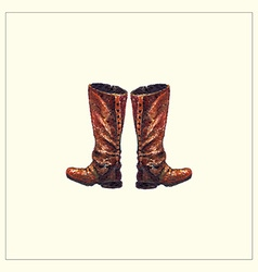 Boots vector image vector image