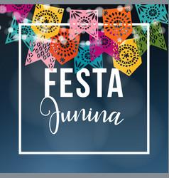 brazilian june party midsummer celebration vector image