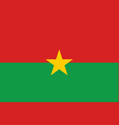 Burkina faso country flat style flag vector