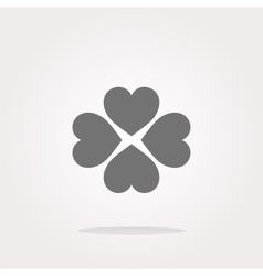 button with heart set sign icon isolated vector image