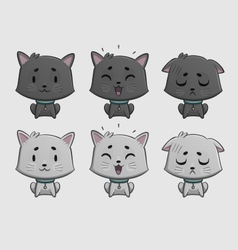 Cat expressions set vector
