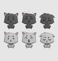 Cat Expressions Set vector image