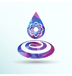 Chemical icons icon drop water element formula vector