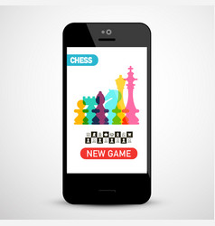chess game app on phone vector image
