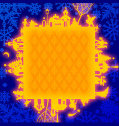 christmas and new years frame vector image