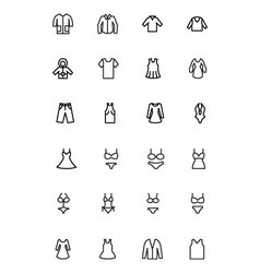 Clothes Line Icons 1 vector image