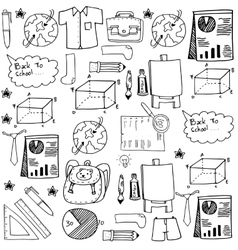 Collection stock doodles school education vector