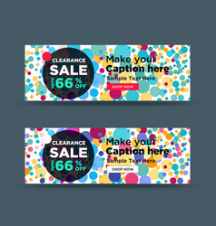 Colorful clearance sale banner vector