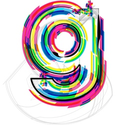 Colorful Font - Letter g vector