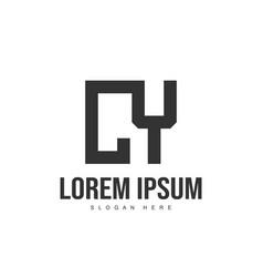 cy letter logo design initial letter logo template vector image