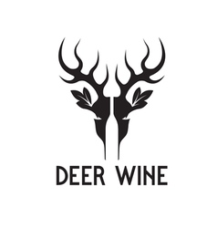 Deer wine negative space concept vector
