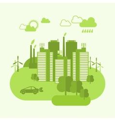 Eco town concept vector