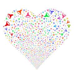 Filter fireworks heart vector