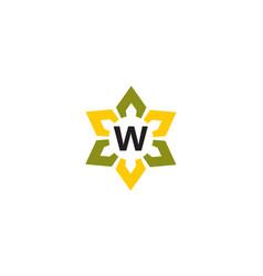 Flower infinity letter w vector