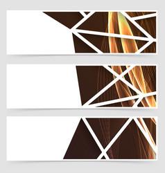 Framed modern swoosh pattern header vector