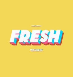 Fresh alphabet 3d bold color style vector